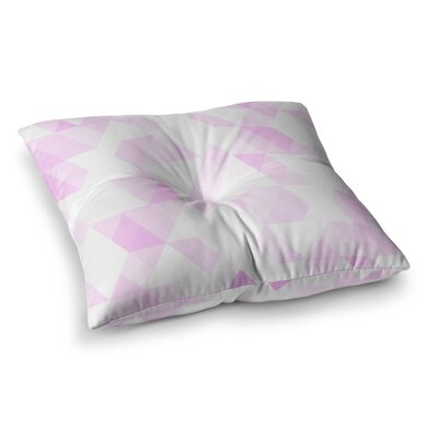 Aspire Geometric by CarolLynn Tice Floor Pillow Size: 26 x 26