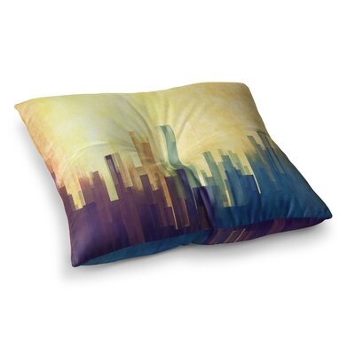 Cloud City by Cvetelina Todorova Floor Pillow Size: 26 x 26