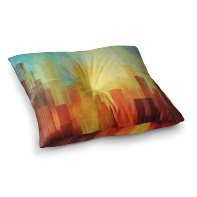 Urban Sunset Geometric by Cvetelina Todorova Floor Pillow Size: 23 x 23