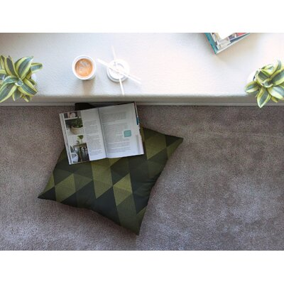 Golden Triangles by Cvetelina Todorova Floor Pillow Size: 26 x 26