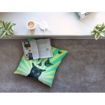 Cat Explosion by Cvetelina Todorova Floor Pillow Size: 23 x 23