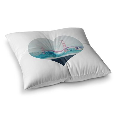 San Francisco Love Coastal by Chelsea Victoria Floor Pillow Size: 26 x 26