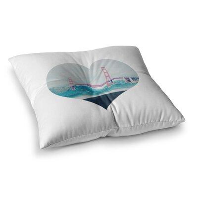 San Francisco Love Coastal by Chelsea Victoria Floor Pillow Size: 26 x 26