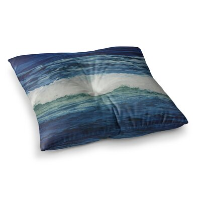 Sink Back Into Coastal by Chelsea Victoria Floor Pillow Size: 23 x 23