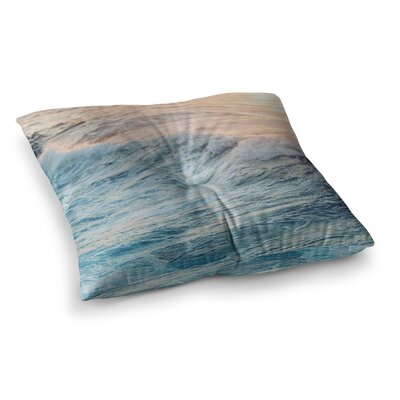 Sherbert Ocean Nature by Chelsea Victoria Floor Pillow Size: 23 x 23