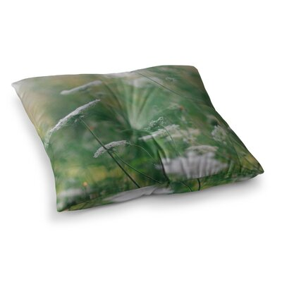 Queen Ann Floral Nature by Chelsea Victoria Floor Pillow Size: 26 x 26