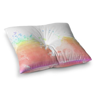 Splatter Watercolor by Chelsea Victoria Floor Pillow Size: 26 x 26