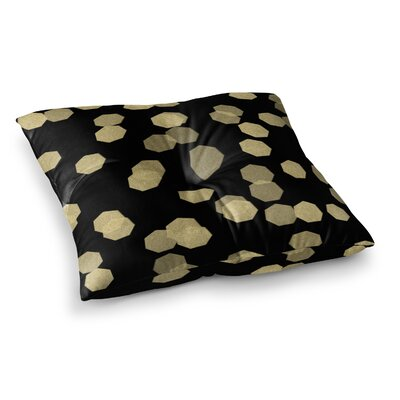Confetti Noir by Chelsea Victoria Floor Pillow Size: 26 x 26