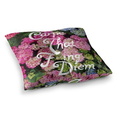 Carpe That F-Ing Diem Nature by Chelsea Victoria Floor Pillow Size: 26 x 26