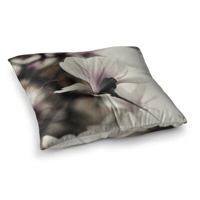 Vanilla Magnolia Floral by Chelsea Victoria Floor Pillow Size: 23 x 23