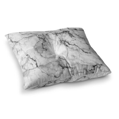 Marble No 2 Modern by Chelsea Victoria Floor Pillow Size: 23 x 23