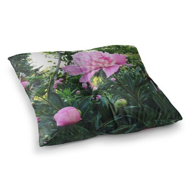 Peonies Floral by Chelsea Victoria Floor Pillow Size: 23 x 23
