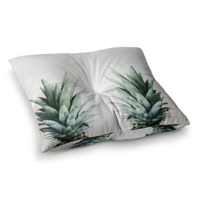 Two Pineapples by Chelsea Victoria Floor Pillow Size: 26 x 26