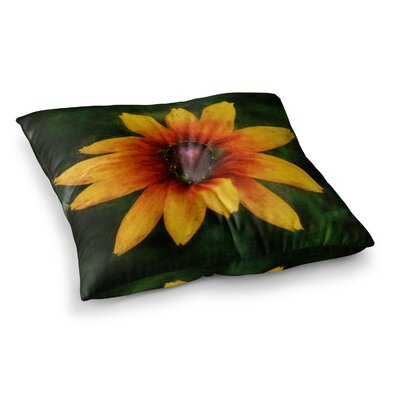 Wildflower in Sun Photography by Ginkelmier Floor Pillow Size: 26 x 26
