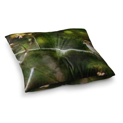 Painted Songbird by Ginkelmier Floor Pillow Size: 23 x 23