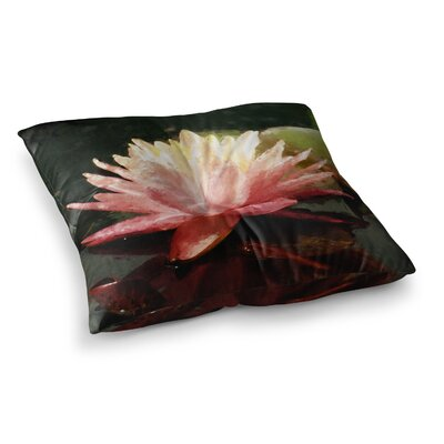 Painted Water Lily Floral by Cyndi Steen Floor Pillow Size: 26 x 26