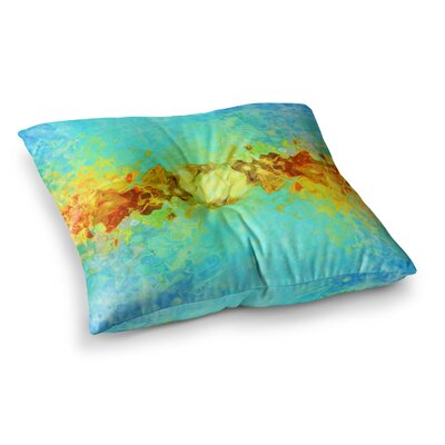 Colorful Earthly Abstract by Ginkelmier Floor Pillow Size: 23 x 23