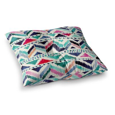 Celestial Tribal Stripe Chevron by Crystal Walen Floor Pillow Size: 23 x 23