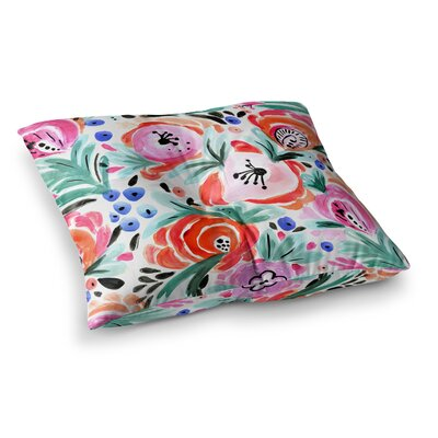 Boho Morning Glory by Crystal Walen Floor Pillow Size: 23 x 23