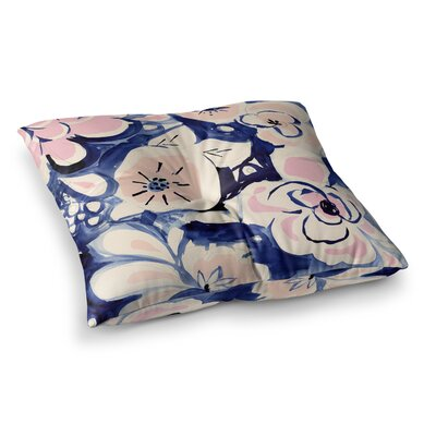 Midnight Moon Flower by Crystal Walen Floor Pillow Size: 23 x 23