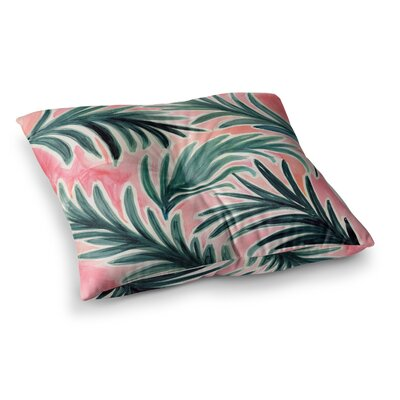 Lush Palm Leaves by Crystal Walen Floor Pillow Size: 23 x 23