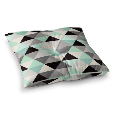 Triangle Geo by Crystal Walen Floor Pillow Size: 26 x 26
