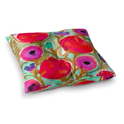 Fiona Flower by Crystal Walen Floor Pillow Size: 23 x 23