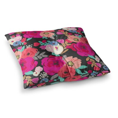 Sweet Pea Floral by Crystal Walen Floor Pillow Size: 23 x 23