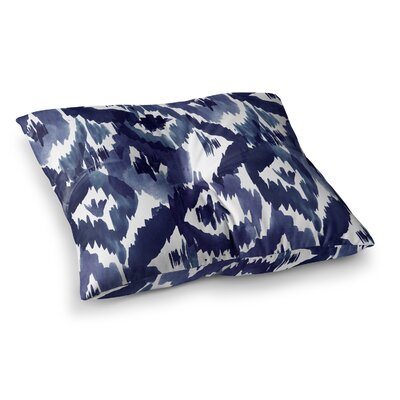 Indigo Ikat Diamond by Crystal Walen Floor Pillow Size: 26