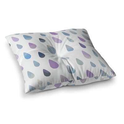 Opal Drops by Daisy Beatrice Floor Pillow Size: 26 x 26, Color: Purple/White