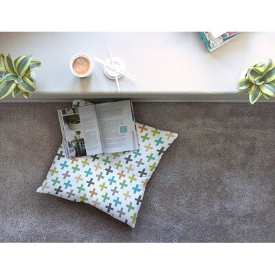 Hipster Crosses Repeat by Daisy Beatrice Floor Pillow Size: 26 x 26
