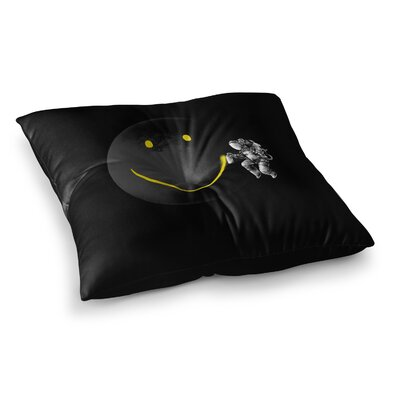 Make a Smile by Digital Carbine Floor Pillow Size: 23 x 23