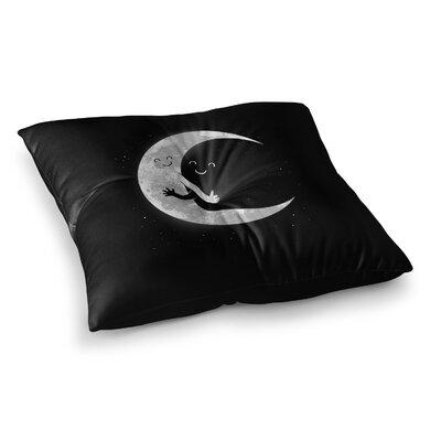Moon Hug by Digital Carbine Floor Pillow Size: 26 x 26