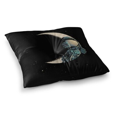 Crescent Moon Illustration by Digital Carbine Floor Pillow Size: 26 x 26