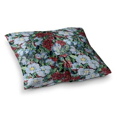 Giardino Garden Flowers by DLKG Design Floor Pillow Size: 23 x 23