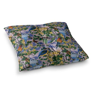 Birds by DLKG Design Floor Pillow Size: 26 x 26