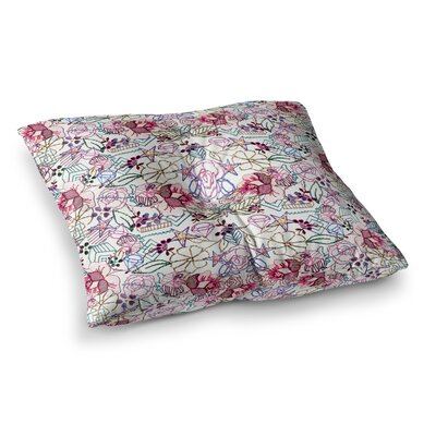 Cool Stitch Blush by DLKG Design Floor Pillow Size: 26 x 26