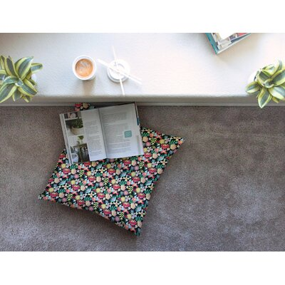Flower Power by DLKG Design Floor Pillow Size: 26 x 26