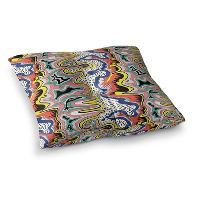 Modern Expression Abstract Illustraion by DLKG Design Floor Pillow Size: 26 x 26