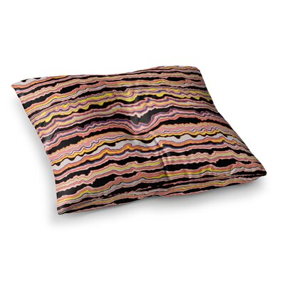 Expressive Lines Illustration by DLKG Design Floor Pillow Size: 23 x 23