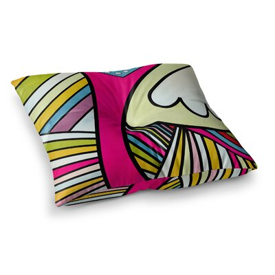 Fake Colors by Danny Ivan Floor Pillow Size: 23 x 23