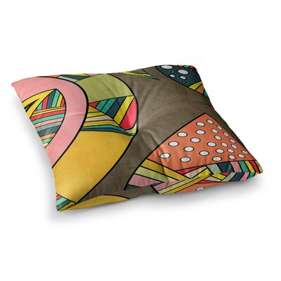 Cosmic Aztec by Danny Ivan Floor Pillow Size: 23