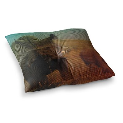 Abstract Rhino by Danny Ivan Floor Pillow Size: 23 x 23