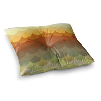 Half Circle Waves Color by Danny Ivan Floor Pillow Size: 26 x 26