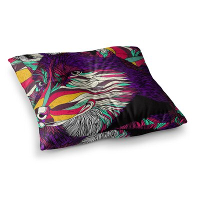 Color Husky by Danny Ivan Floor Pillow Size: 23 x 23