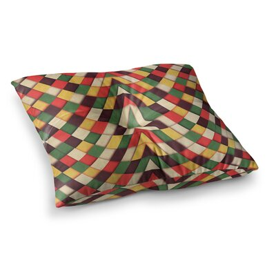Rastafarian Tile by Danny Ivan Floor Pillow Size: 23 x 23