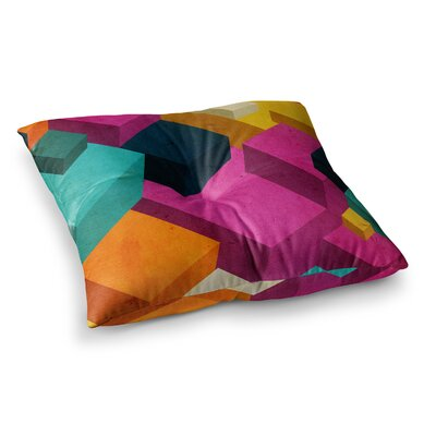 Happy Cubes by Danny Ivan Floor Pillow Size: 26 x 26