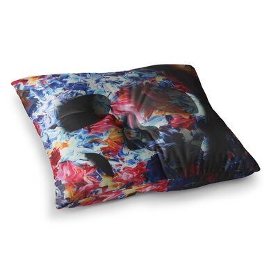 Skull Light by Danny Ivan Floor Pillow Size: 23 x 23