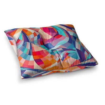 Versicolor by Danny Ivan Floor Pillow Size: 26