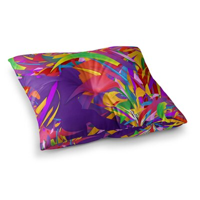 Shooting Rainbow by Danny Ivan Floor Pillow Size: 23 x 23